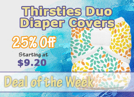Deal of the week 25% Off Thirsties Duo Wrap Diaper Coversl